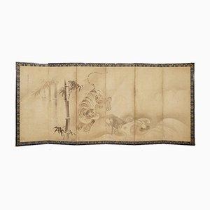 Divisorio a sei pannelli, Giappone, XVII secolo, set di 2