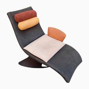 Sedia trasformata in una chaise longue, anni '80