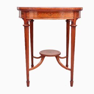 19th-Century Satinwood Occasional Table