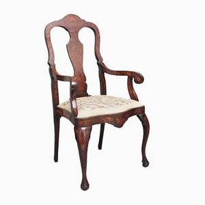 Early 19th-Century Dutch Marquetry Armchair