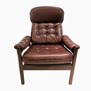 Brazilian Leather Armchair, 1970s