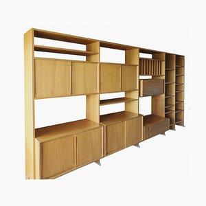 Estante de pared modular RY 100 de Hans Wegner para RY Furniture, años 70. Juego de 4