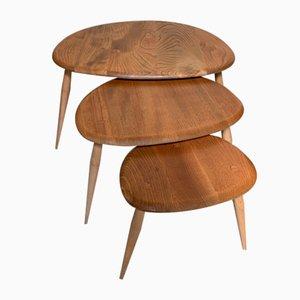 Tables Gigognes Pebble de Ercol, Set de 3