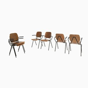 Model 305 Stackable & Linkable Chairs by Kho Liang le for CAR, 1963, Set of 10