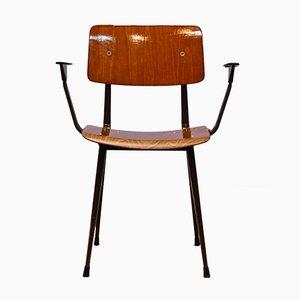 Dutch Result Chair with Armrests by Friso Kramer for Ahrend De Cirkel, 1960s