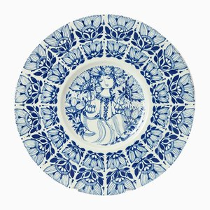 Danish Decorative Plate by Bjorn Wiinblad for Nymolle, 1960s