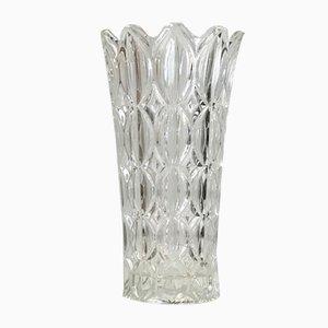 Vaso Mid-Century in cristallo, Francia, anni '70