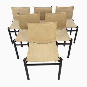 Esszimmerstühle von Afra & Tobia Scarpa, Italien, 1970er, 6er Set
