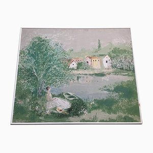 Reproduction of Large Picture on Canvas by Monet