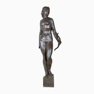 Bronze 'Diana the Huntress' Skulptur aus Bronze des 20. Jahrhunderts von M Saulo / Susse Fondeurs