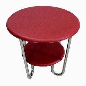 Bauhaus Metal & Chrome Table by Michael Thonet for Thonet, 1940s