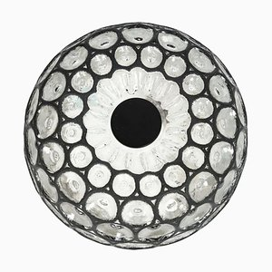 Deckenlampe aus Eisen & Klarglas von Limburg, 1960er