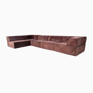 COR Trio Sofa in Brown Original Teddy Fabric, 1970s
