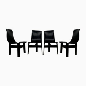 Tre 3 Chairs by Angelo Mangiarotti for Skipper, Set of 4