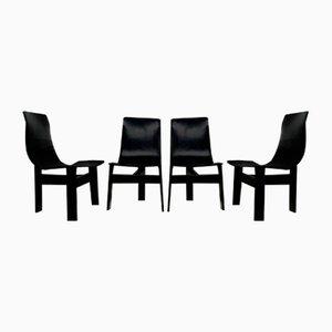 Tre 3 Stühle von Angelo Mangiarotti für Skipper, 4er Set