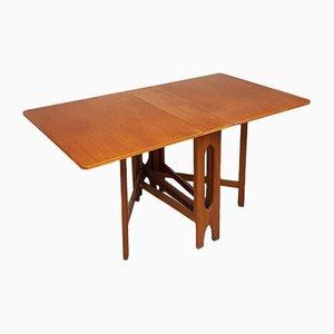 Mid-Century Teak Extending Drop Leaf Dining Table