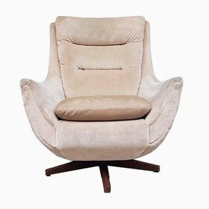 Mid-Century Parker Knoll Egg Swivel Lounge Chair