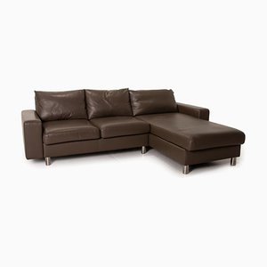 E 200 Brown Leather Corner Sofa from Stressless