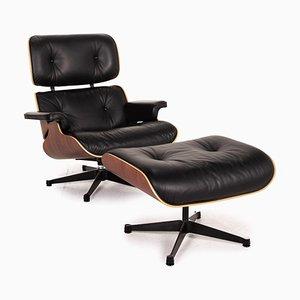 Eames Sessel und Fußhocker von Charles & Ray Eames für Vitra, 2er Set