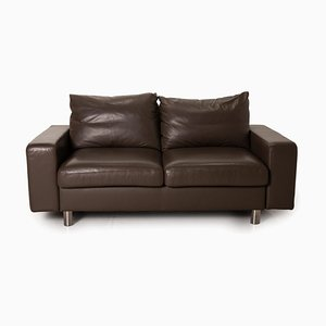 E 200 Brown Leather Sofa from Stressless
