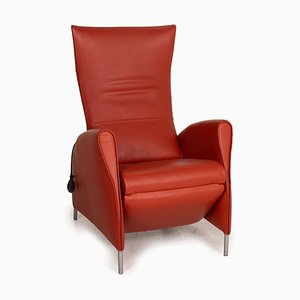 JR 3490 Red Leather Armchair by Jori