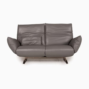 Exo 2 Gray Leather Sofa from Koinor