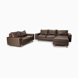 E 200 Leather Sofa Set from Stressless, Set of 2