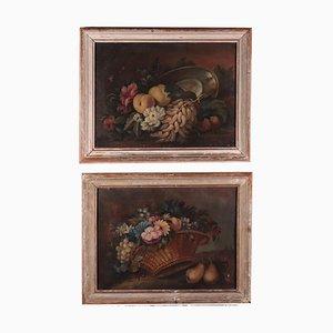 Nature morte avec fruits et fleurs, Set de 2