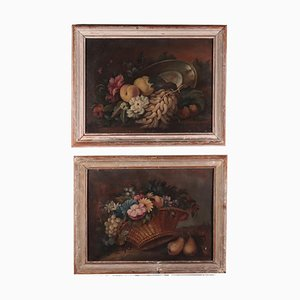 Still Life with Fruit and Flowers, Set of 2