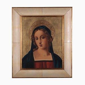 Visage de Madonna, Huile sur Contreplaqué