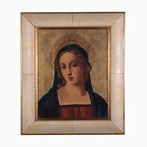 Volto di Madonna, olio su compensato
