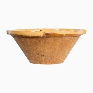 Yellow Glazed Terracotta Bowl