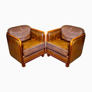 Vintage Brown Leather Lounge Chair