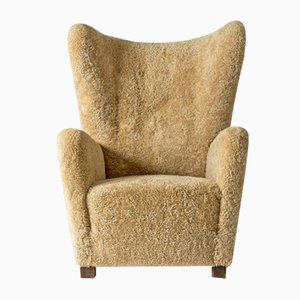 Sheepskin Lounge Chair from Fritz Hansen, 1930s