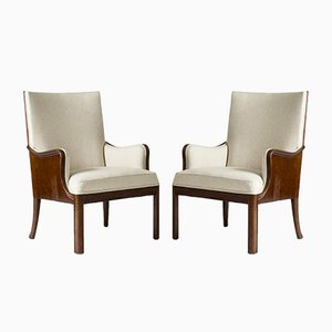Lounge Chairs by Frits Henningsen, Set of 2