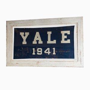 Wooden Framed Yale Flag