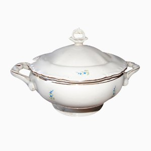 Vintage Porcelain Soup Tureen from Tułowice P. T., 1950s