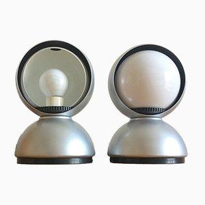 Lampes de Bureau Eclisse Vintage par Vico Magistretti pour Artemide, Set de 2