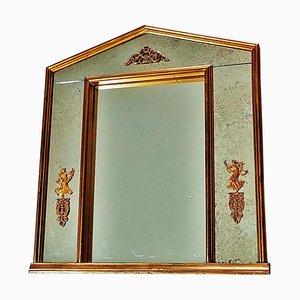 Specchio imperiale dorato neoclassico