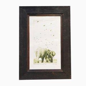Wooden Decorative Elephant Panel