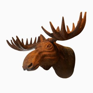 Wooden Moose Trophy