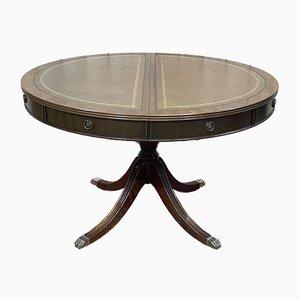 English Mahogany & Leather Table, 1970s