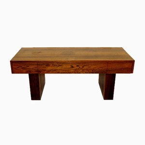 Swedish Rosewood Console from Glas & Trä, 1960