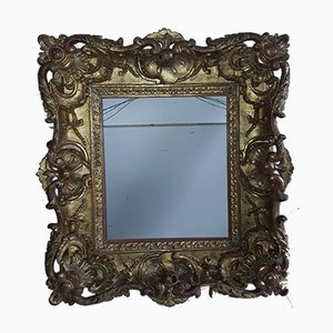 Antique Lime Wood Gilded Picture Frame