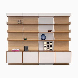 Wall Unit in Teak & Seagrass by Florence Knoll Bassett for Knoll, 1952