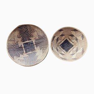Handwoven African Baskets, Zimbabwe, Set of 2