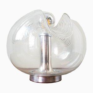 Grande Lampe de Bureau Futura 57192 en Verre Transparent avec Design Wave par Koch & Lowy pour Peill & Putzler, 1960s