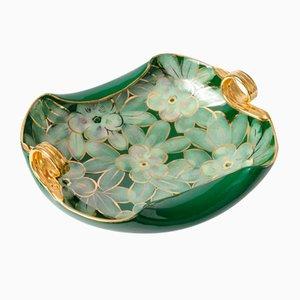 Vintage Italian Green Ceramic Bowl, 1950s