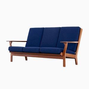 Teak GE-320 3-Sitzer Sofa von Hans J. Wegner für Getama, Denmark, 1956