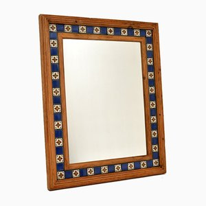 Large Vintage Mexican Tiled Mirror, 1950s